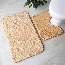 2019 soft lamb plush bathroom mat toilet mat 4 solid colors bathroom rug household toilet feet pad super soft bath mat from cindy668 14 8 dhgate com
