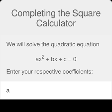 completing the square calculator examples