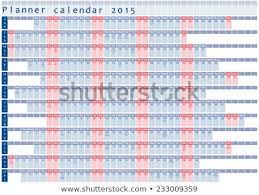Planner Calendar 2015 Holidays Posted Inside Stock Vector Royalty