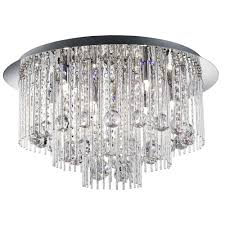 searchlight beatrix 8 light led colour changing crystal ceiling flush fitting 9198 8cc lighting from the home lighting centre uk