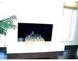 glass tile fireplace surround black subway