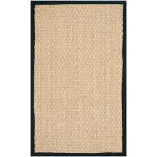 black border outdoor rug casual natural fiber and handwoven sisal area 3 x 5 black border area rugs