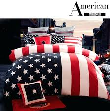 velour bedding set flag stars and stripes bed union jack clothes fashion spreads american comforter twin size