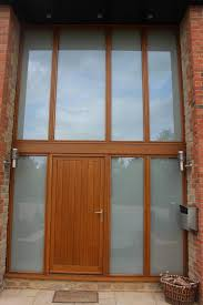 switchable smart glass double glazed entrance switched off frosted