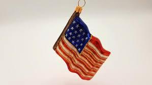 Fahne Flagge Usa Hanco Design Christbaumschmuck Aus Glas Mundgeblasen Handarbeit Von Hand Dekoriert 240306