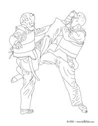 Taekwondo Combat Sport Coloring Page More