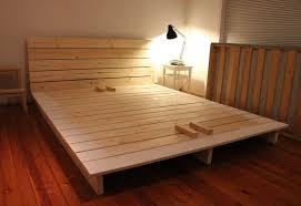 diy platform bed frame size