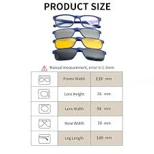 Sunglasses Frame Size Chart 3pcs Clip On Sunglasses Polarized Magnetic Lens Plastic Frame For Night Driving 3d Eyeglasses With Magnetic Snap On Shadesdd1479