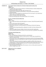 Control Room Operator Resume Samples Velvet Jobs