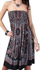 Angerella Boho Vintage Floral Beach Dress Swimwear Cover Ups