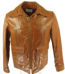 60s wilsons leather brown jacket h78k 1