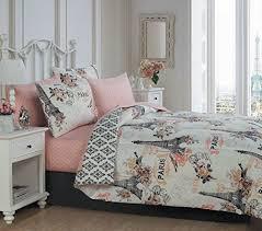 paris themed bedroom comforter sets