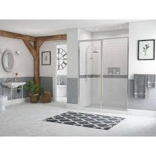 framed hinge swing shower door with inline
