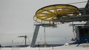 ski lift chairs on winter daydern chair ski lift in ski resortople