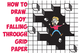 How To Draw Cool Stuff Draw A Hole In Grid Paper With Cubes