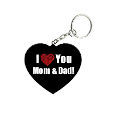 twiz i love you mom and dad wooden heart key ring amazon in bags wallets luge
