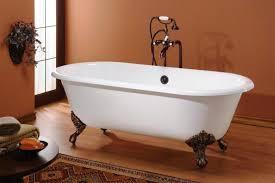 vintage cast iron bathtub shower design