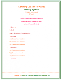 Meeting Templates Word Meeting Agenda Templates Word Pics Template Download Printable Doc 78