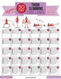 the official 30 day thigh slimming challenge