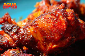 primo barbecue smoked and glazed en wing