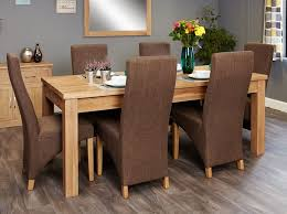 image baumhaus mobel. Baumhaus Mobel Extending Oak Dining Set With 6 Full Back Upholstered Chairs Image