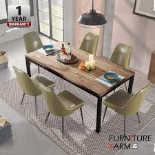 Senarai Harga Ff Qullen Solid Rubber Wood Dining Table With Steel