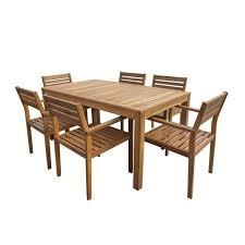 Ensemble de mobilier de jardin 6 places - 1 table et 6 chaises - En ...