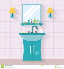 Bathroom clipart bathroom mirror - Pencil and in color bathroom ...