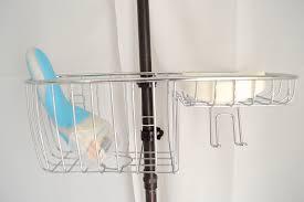 diy clawfoot tub shower. clawfoot tub shower combo: diy storage for toiletries \u2014 the white apartment diy -