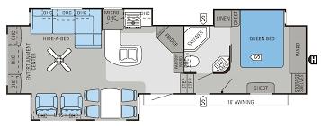 2016 eagle fifth wheels 33 5rets floorplan