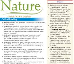 nature by ralph waldo emerson homework online