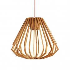 liora wood pendant light squat replica