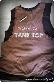 t shirt to tank top diy fashion on the