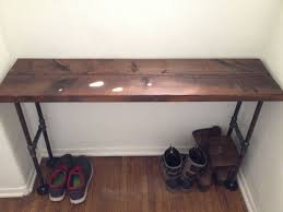 iron pipe furniture. introduction easy modern black iron pipe bench entryway table furniture o