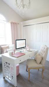 Feminine office chair Girly Girlish Desk In White With Laset Cut Legs Creates Mood In This Room Tsangsco 30 Delightful Feminine Home Office Furniture Ideas Digsdigs
