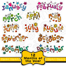 The Year Calendar Clip Art Months Of The Year Calendar Text Titles By Prawny Tpt