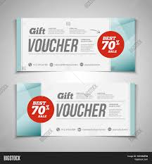 coupon design abstract gift voucher coupon vector photo bigstock