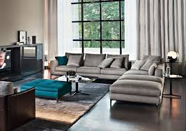 stylish living room furniture. Gray Area Rug Idea Plus Contemporary Large Window Curtain And Masculine Living Room Furniture With Turquoise Stylish