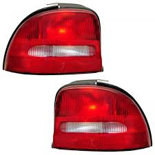 Dodge Neon Brake Light Details About Taillights Taillamps Rear Brake Lights Lamps Pair Set For 95 99 Dodge Neon