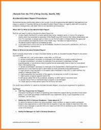 Example Of Incident Report Writing Download And Technical Writing