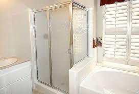 semi frameless shower door norco
