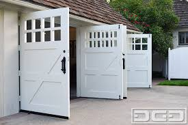 Stylish Carriage Garage Doors Inside Out Swing Traditional Shed San
