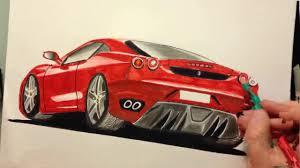 Dessin Ferrari F430 Partie 2 Fin Youtube