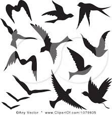 flying birds tattoo clipart. Beautiful Flying Fascinating Flying Bird Silhouettes Vector Tattoo Clipart To Birds H