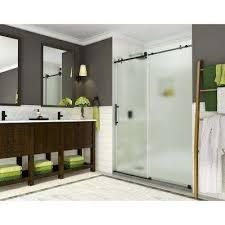 completely frameless sliding shower door w