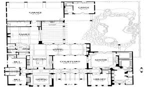 Small Spanish Style House Plans Spanish House Plans   Courtyard