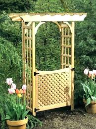 wooden garden arch with gate arbor more views wood gates uk