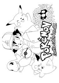 Pokemon Pokemon Met Zijn Vrienden Pokemon Kleurplaten Kleurplaatcom