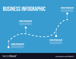 Business Infographic Line Chart