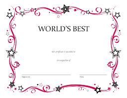 Best Boyfriend Award Certificate Template Best Boyfriend Award